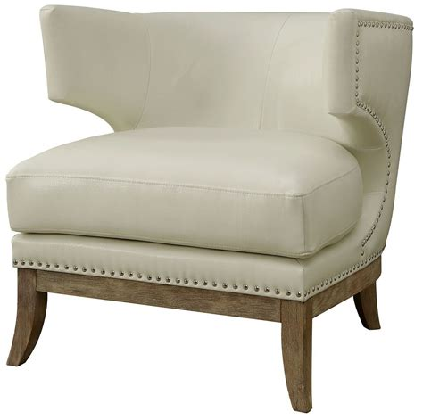 white wingback accent chair cm ac6126 furniture