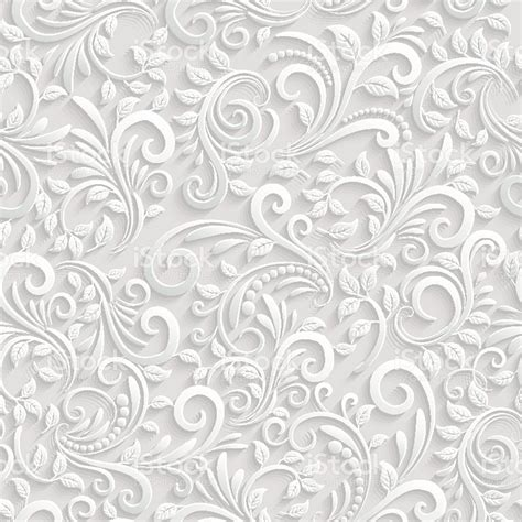 3d Wallpaper Texture Seamless by Vector Floral 3d Seamless Pattern Background For