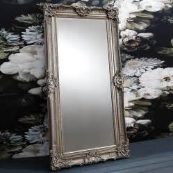 Aged Mirror by Ornate Antique Silver Leaner Mirror By Primrose Amp Plum