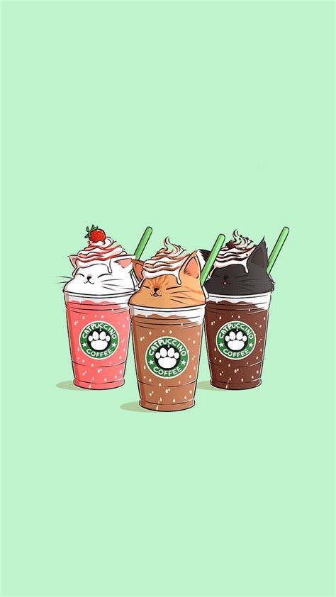 If you're looking for the best starbucks wallpaper then wallpapertag is the place to be. Pin by Sharkgirl on Kawaii (With images) | Starbucks wallpaper, Cute wallpapers, Cartoon wallpaper