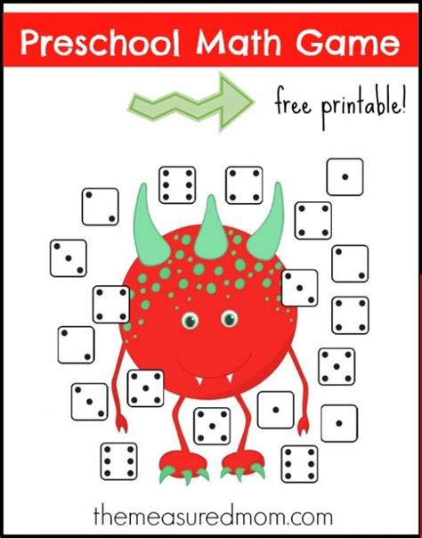 free preschool math dice match 718 | 2ecb5111d80aaeb33ade68bf03fb603b