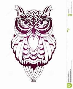 Owl Tattoo Stock Vector - Image: 49781410