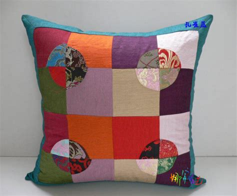 couch seat cushion covers   high  silk cotton zippered patchwork designs