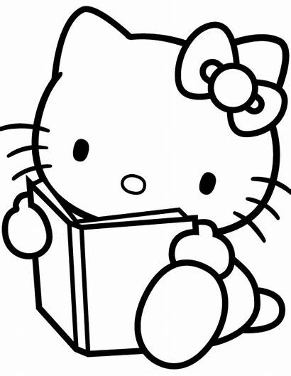 Kitty Hello Coloring Pages Read Sheets Activity