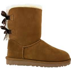 ugg womens bailey bow boot on sale ugg bailey bow chestnut sheepskin 39 s boot
