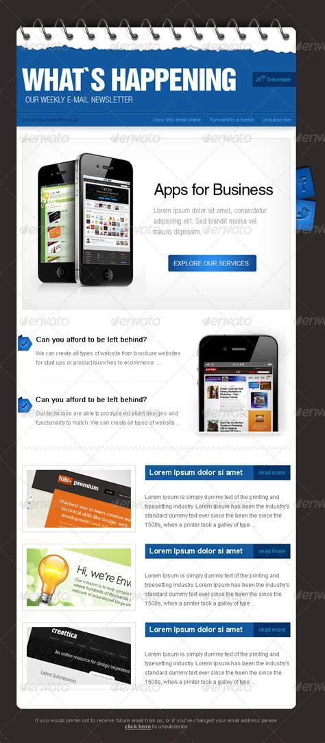 business enewsletter design  alexlasek graphicriver