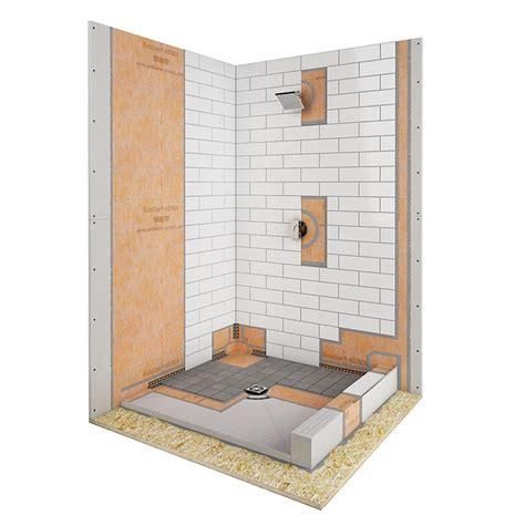 tile shower kits bathroom design great schluter kerdi shower kit for 2774