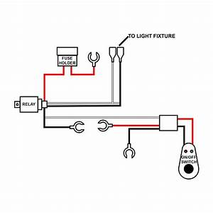 Off-road Led Light Bar Wiring Harness Kit