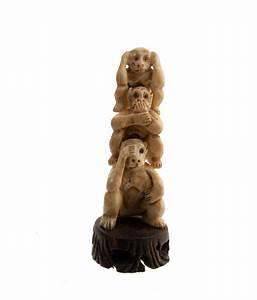 Statue Singe De La Sagesse : figurine 3 singes de la sagesse mizaru kikazaru iwazaru en ~ Teatrodelosmanantiales.com Idées de Décoration