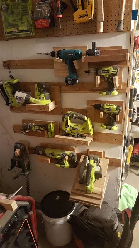 frenchcleats powertoolstorage takes    space