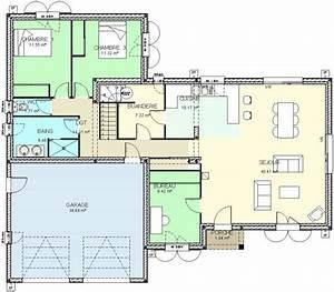 Plan maison etage 3 chambres gratuit modern aatl for Nice idee maison plain pied 3 construction 86 fr gt plan maison traditionnelle plain pied