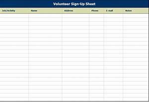volunteer sign up sheet volunteer sign up sheet template With volunteer sign up form template