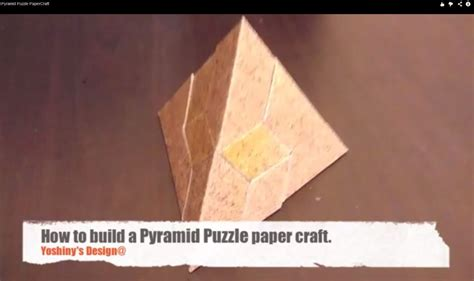 pyramid puzzle papercraft youtube