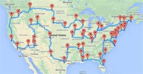 bureau d emploi voyage aux états unis le quot road trip quot idéal calculé par