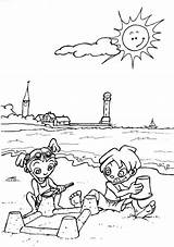 Coloring Beach Pages Printable sketch template