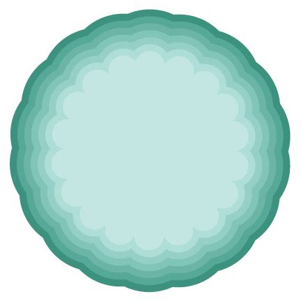 Nested Scallop Circle SVG cutting file for scrapbooking
