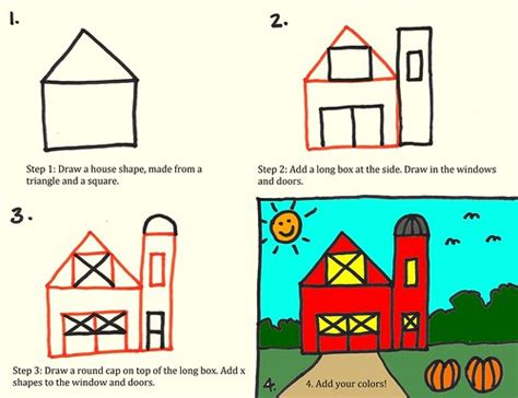 How To Draw A Barn by Drawing A Barn For By Stushie For