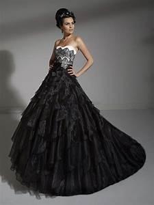 8 breathtaking black wedding dresses for the unique bride With unique black and white wedding dresses