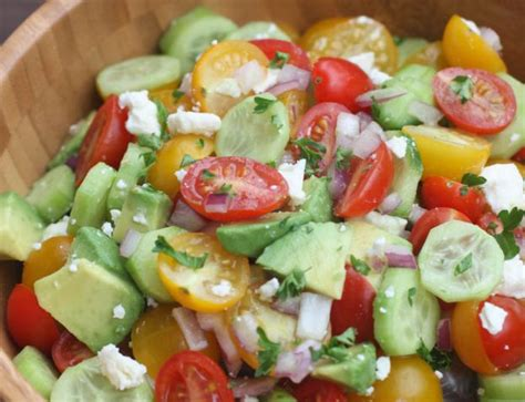 recette cuisine en anglais recette facile de salade de tomates concombre et avocat
