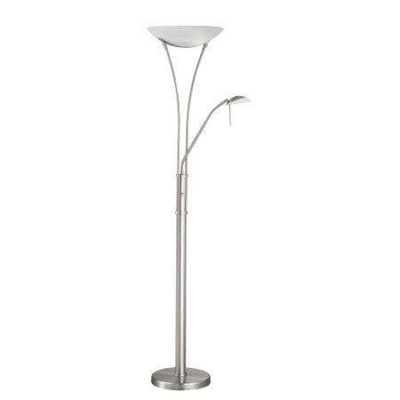 floor ls up lighting lite source ls 81699ps fro polished steel frosted glass three light 70 5 quot up lighting