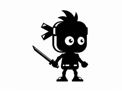 Sprite Character Ninja Stickman Shadow Sheet Animation