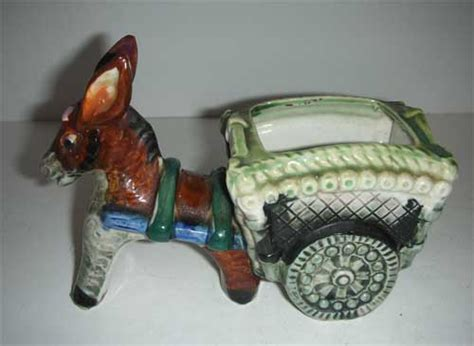 donkey cart planter occupied japan  carmelcollectibles