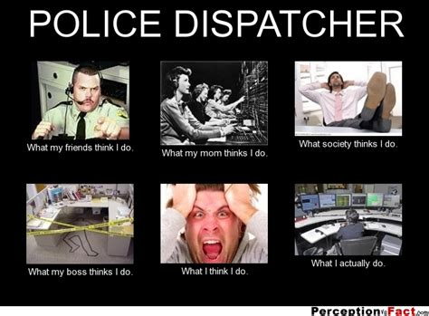 Internet Police Meme - police dispatcher what people think i do what i really do perception vs fact