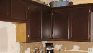 staining oak cabinets with gel stain swanky suburbia
