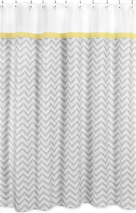 yellow and gray chevron zig zag kids bathroom fabric bath