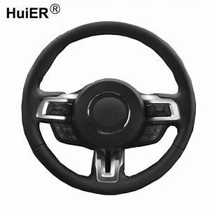 HuiER Hand Sewing Car Steering Wheel Cover Wear Resistant ...