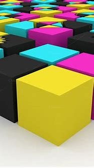 3d Cubes - CMYK Concept ~ Industrial Photos on Creative Market