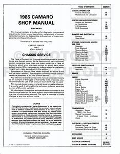 New Original 1986 Chevy Camaro Repair Shop Manual 86 Z28 Z