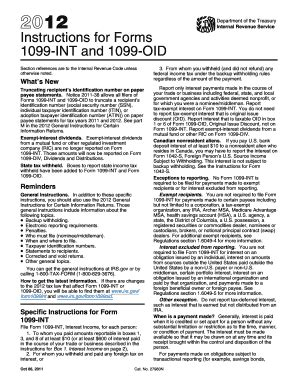 1099 form 2012 printable 1099 int 2012 fillable fill online printable fillable