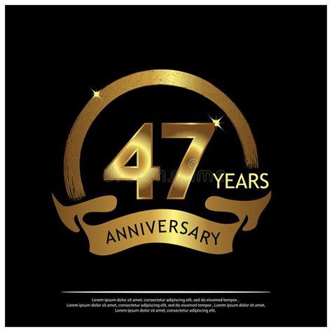 forty  years anniversary golden anniversary template