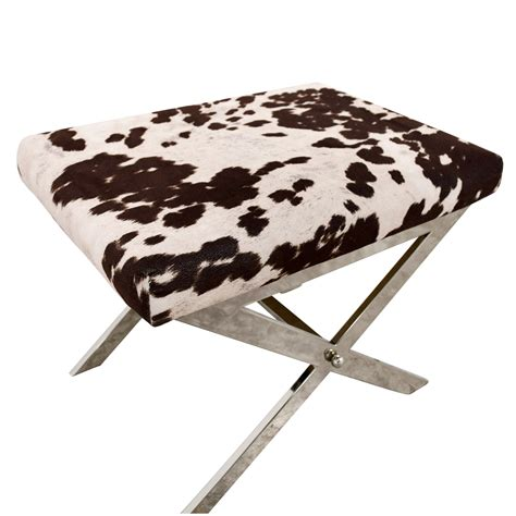 Black And White Stool by 68 Black And White Cow Print Stool Chairs