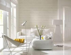 Moderne Wohnungseinrichtung Ideen : wohnzimmer mit tapete in fransenoptik sch ner wohnen ~ Markanthonyermac.com Haus und Dekorationen