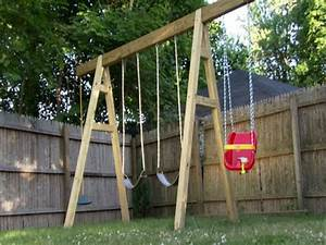 Simple Swing Set Plans - Woodwork City Free Woodworking Plans