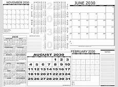 2030 Free Printable Calendars Free Printable Calendars