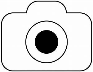 Camera clipart line art - Pencil and in color camera ...