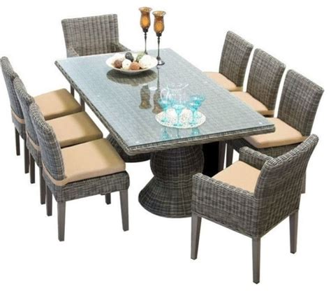 tk classic cape cod 9 wicker patio dining set