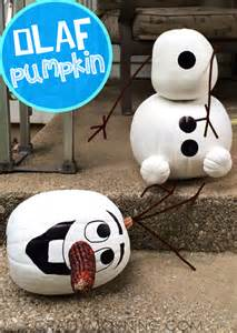 Carve Pumpkin With Drill by No Carve Frozen Olaf Pumpkin Crafty Morning