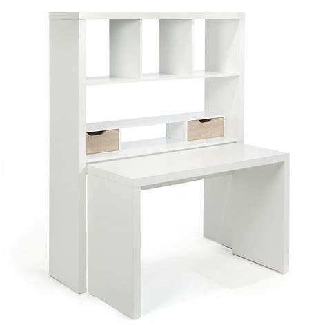 alinea rangement bureau bureau modulable avec étagères et tiroirs twisty bureau