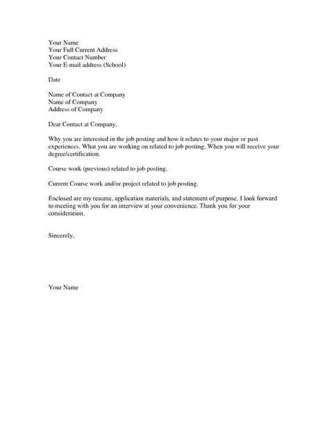 basic cover letter template  letters  sample