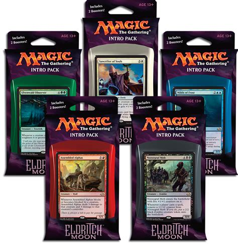 mtg premade decks 2017 eldritch moon intro pack rares magic the gathering