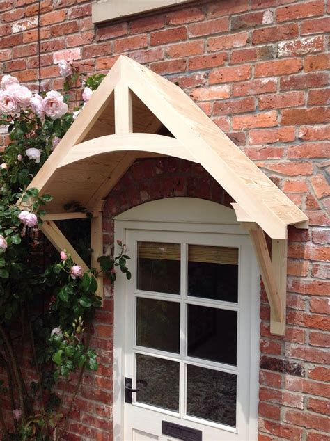 details  timber front door canopy porch crossmerehand  shropshire awning canopies