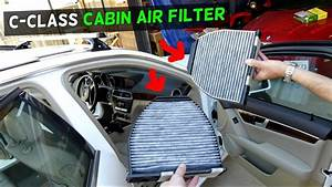 Mercedes W204 Cabin Air Filter Replacement Location C250
