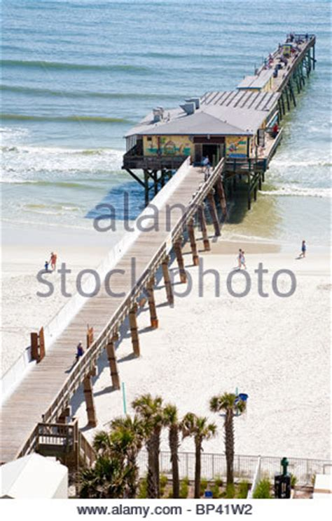 deck daytona shores sunglow fishing pier daytona florida usa stock photo