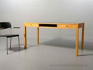 Schreibtisch Mit Schubladen : ferdinand kramer schreibtisch mit 2 schubladen 160x80 ~ Frokenaadalensverden.com Haus und Dekorationen