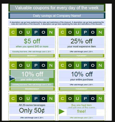 coupon template microsoft word 7 coupon design templates word excel pdf templates