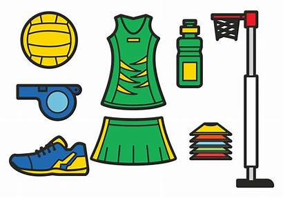 Netball Vector Sports Clipart Medallions Trophies Player